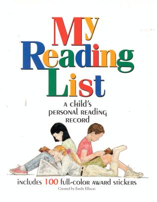 Cover image for the book My Reading List: A Child's Personal Reading Record