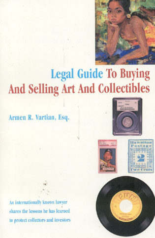 Cover image for the book Legal Guide to Buying and Selling Art and Collectibles