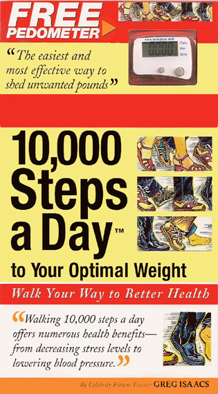 Cover image for the book 10,000 Steps a Day to Your Optimal Weight: Walk Your Way to Better Health