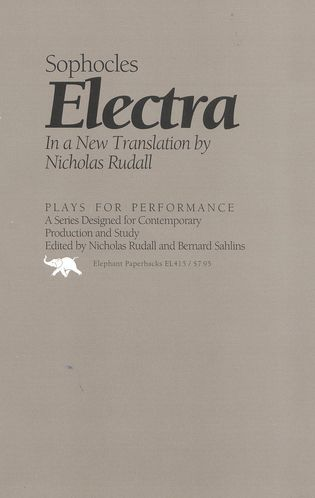 Cover image for the book Electra