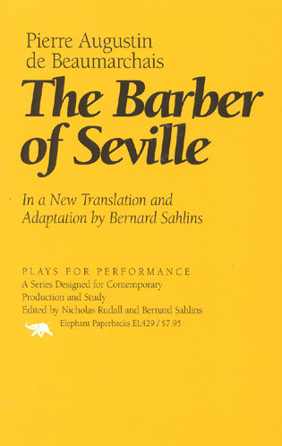 Cover image for the book The Barber of Seville: In a New Translation and Adaptation by Bernard Sahlins