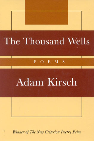 Cover image for the book The Thousand Wells: Poems