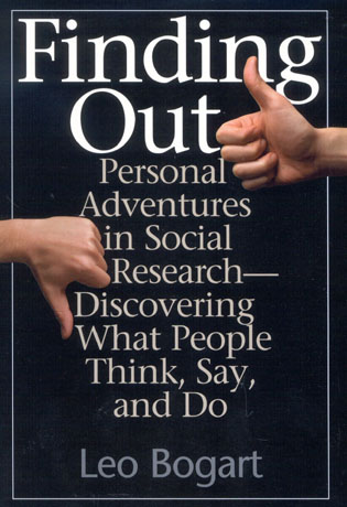 Cover image for the book Finding Out: Personal Adventures in Social Research--Discovering What People Think, Say and Do