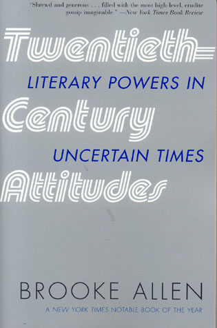 Cover image for the book Twentieth-Century Attitudes: Literary Powers in Uncertain Times