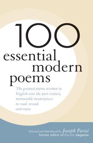 Cover image for the book 100 Essential Modern Poems
