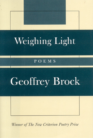 Cover image for the book Weighing Light: Poems