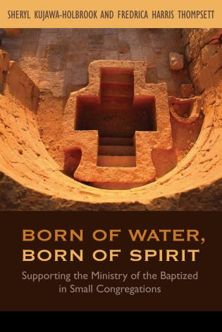 Cover image for the book Born of Water, Born of Spirit: Supporting the Ministry of the Baptized in Small Congregations