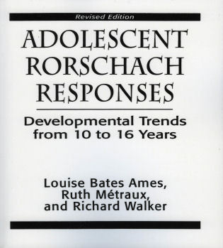 Cover image for the book Adolescent Rorschach Responses: Developmental Trends from Ten to Sixteen Years