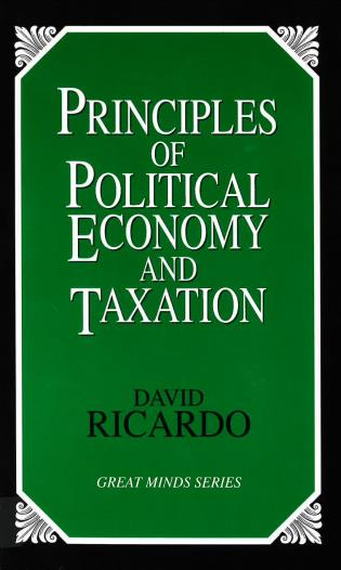 Cover image for the book Principles of Political Economy and Taxation