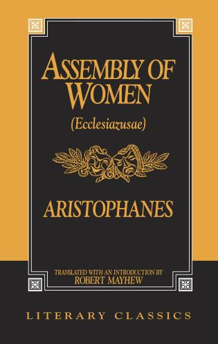 Cover image for the book The Assembly of Women: Ecclesiazusae
