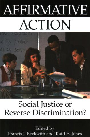 Cover image for the book Affirmative Action: Social Justice or Reverse Discrimination?