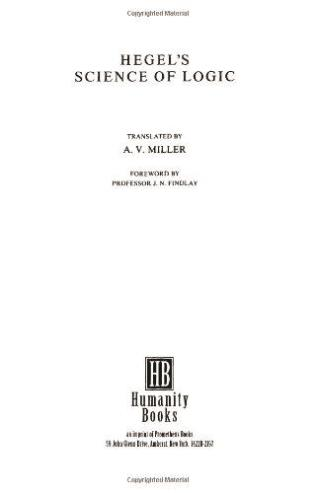 Cover image for the book Hegel's Science of Logic