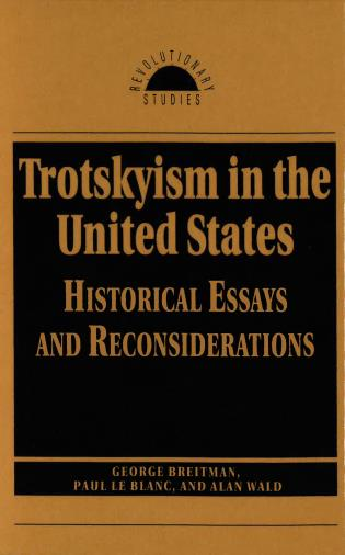 Cover image for the book Trotskyism in the United States