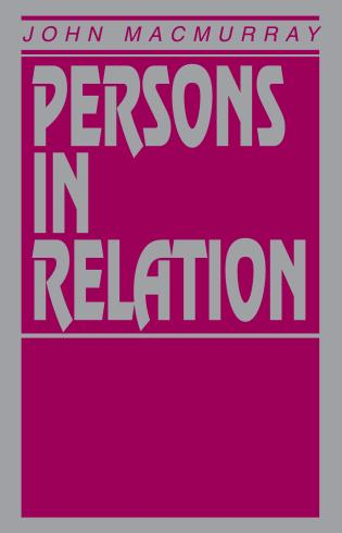 Cover image for the book Persons in Relation