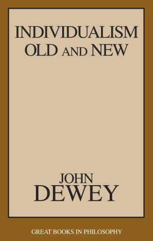 Cover image for the book Individualism Old and New