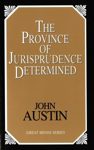 Cover image for the book The Province of Jurisprudence Determined