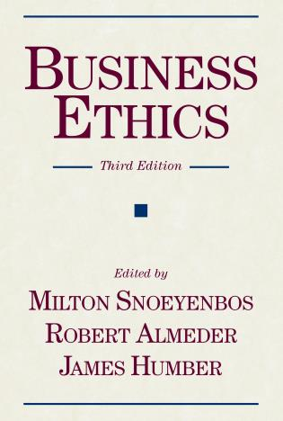 Cover image for the book Business Ethics
