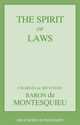 Cover image for the book The Spirit of Laws