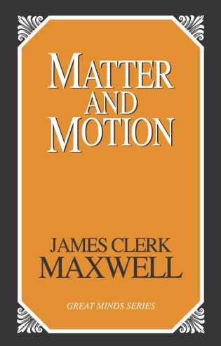 Cover image for the book Matter and Motion