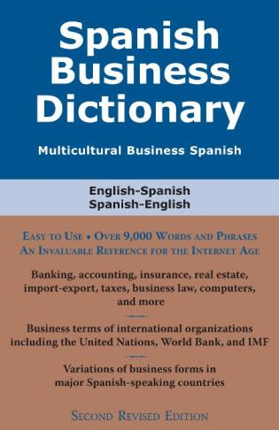 Cover image for the book Spanish Business Dictionary: Multicultural Business Spanish