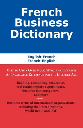 Cover image for the book French Business Dictionary: The Business Terms of France and Canada