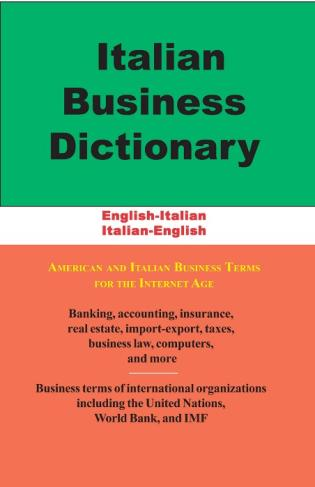 Cover image for the book Italian Business Dictionary