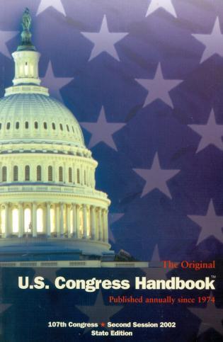 Cover image for the book The Original U.S. Congress Handbook, 2002