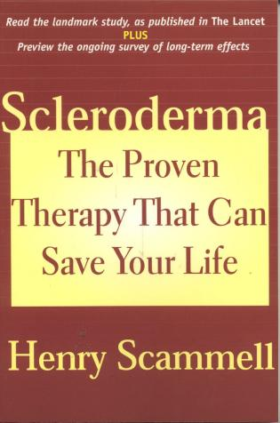 Cover image for the book Scleroderma: The Proven Therapy that Can Save Your Life