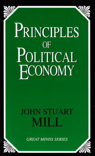 Cover image for the book Principles of Political Economy
