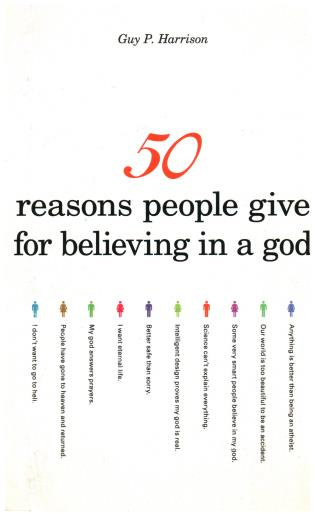 Cover image for the book 50 Reasons People Give for Believing in a God