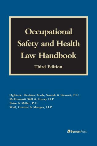Cover image for the book Occupational Safety and Health Law Handbook, Third Edition