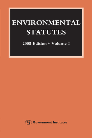Cover image for the book Environmental Statutes, 2008 Edition