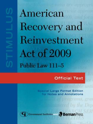 Cover image for the book Stimulus: American Recovery and Reinvestment Act of 2009: PL 111-5: Official Text