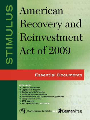 Cover image for the book Stimulus: American Recovery and Reinvestment Act of 2009: Essential Documents