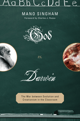 Cover image for the book God vs. Darwin: The War between Evolution and Creationism in the Classroom