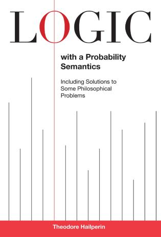 Cover image for the book Logic with a Probability Semantics
