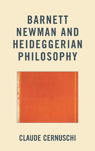 Cover image for the book Barnett Newman and Heideggerian Philosophy