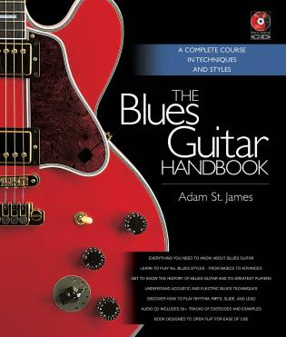 Cover image for the book The Blues Guitar Handbook: A Complete Course in Techniques and Styles
