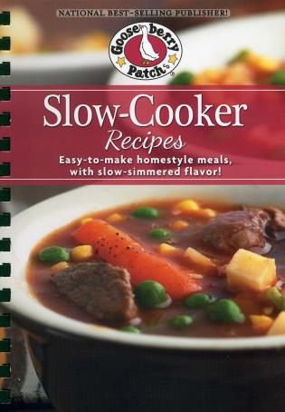 Cover image for the book Slow-Cooker Recipes Cookbook: Easy-to-make homestyle meals with slow-simmered flavor!