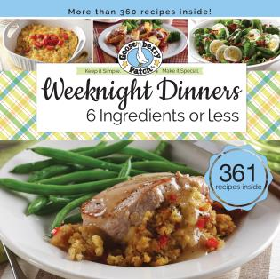 Cover image for the book Weeknight Dinners 6 Ingredients or Less