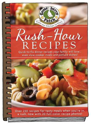 Cover image for the book Rush-Hour Recipes: Updated with more than 20 mouth-watering photos!