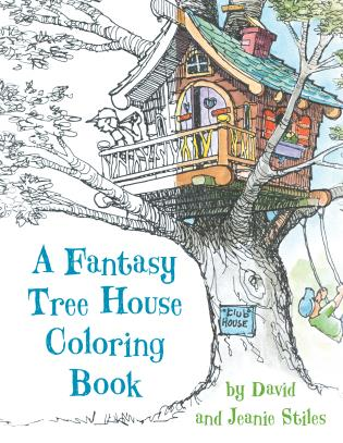 Cover image for the book A Fantasy Tree House Coloring Book