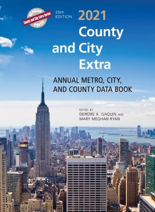 Cover image for the book County and City Extra 2021: Annual Metro, City, and County Data Book, 29th Edition