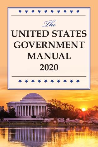 Cover image for the book The United States Government Manual 2020