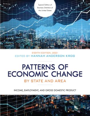 Cover image for the book Patterns of Economic Change by State and Area 2021: Income, Employment, and Gross Domestic Product, Eighth Edition