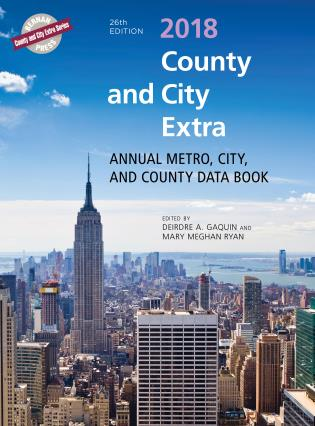 Cover image for the book County and City Extra 2018: Annual Metro, City, and County Databook, 26th Edition