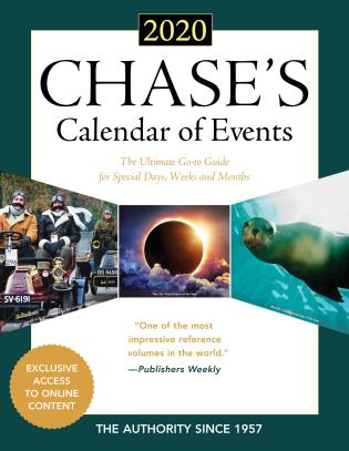 Cover image for the book Chase's Calendar of Events 2020: The Ultimate Go-to Guide for Special Days, Weeks and Months, 63rd Edition