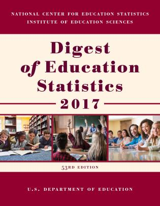 Cover image for the book Digest of Education Statistics 2017