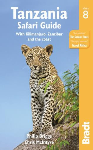 Cover image for the book Tanzania Safari Guide: With Kilimanjaro, Zanzibar and the Coast, Eighth Edition