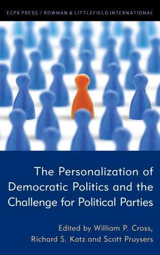 Cover image for the book The Personalization of Democratic Politics and the Challenge for Political Parties